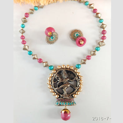 Terracotta Nataraja Jewellery Set