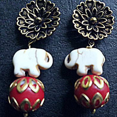 Elephant Beads Earrings 1
