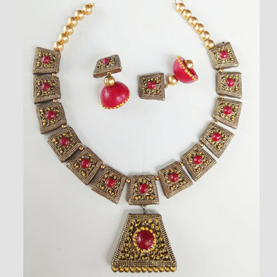 Terracotta Festive Jewelry Set