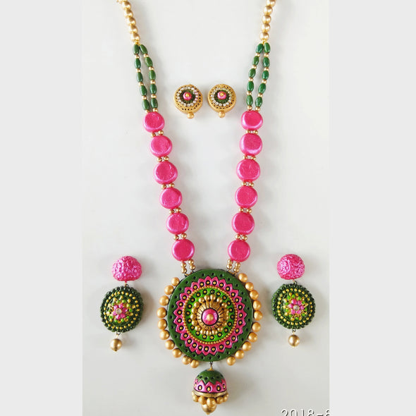 Terracotta Fashionable Jewellery Set