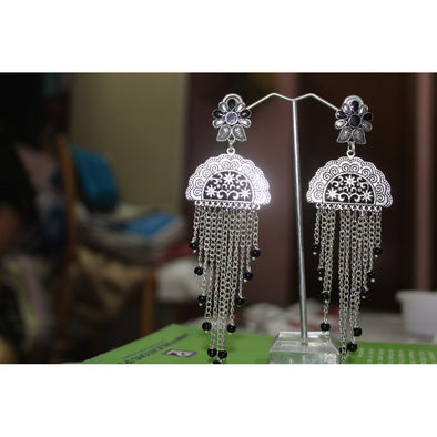 German Silver Long Earrings