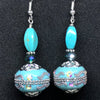 Turquoise Bollywood Set with Mixed Stones and Crystal