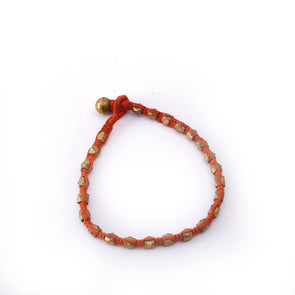 Dhokra Anklet Chic Orange