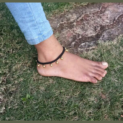 Dhokra Anklet Black Copper