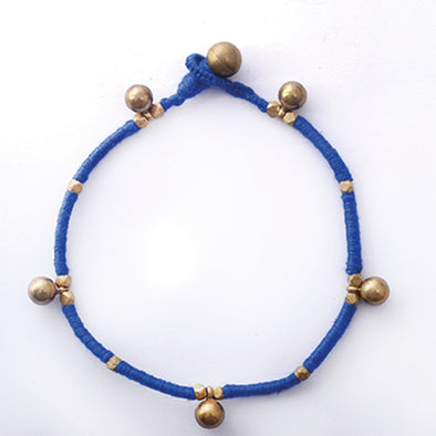 Dhokra Anklet Blue Ghungroo