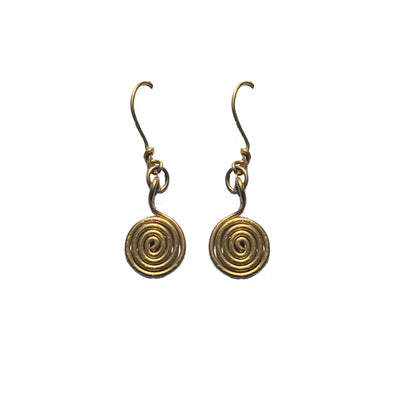 Dhokra Earring Spiral
