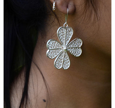 Silver Filigree Earrings 3