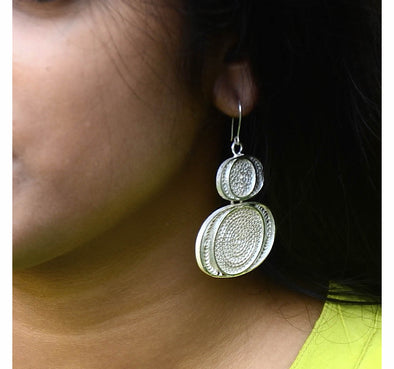 Silver Filigree Earrings 4