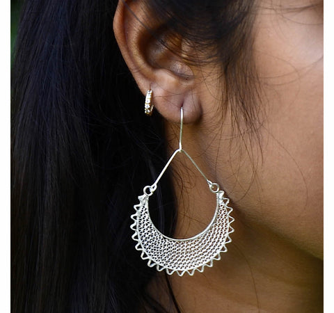 Silver Filigree Earrings 7