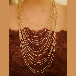 The Bead Story - Multi Layered Chain Necklace