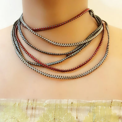 The Bead Story - Multilayer Short Necklace