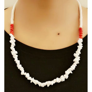 White Glass Beads Necklace 4