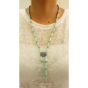 Green Glass Beads Necklace 11