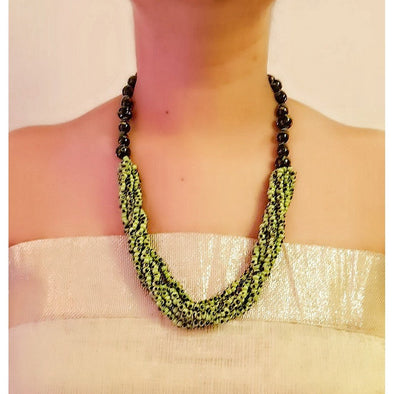 Green Glass Beads Necklace 7