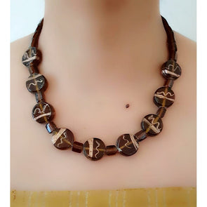 Brown Short Necklace