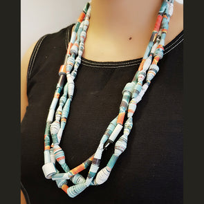 Paper Bead Necklace 10