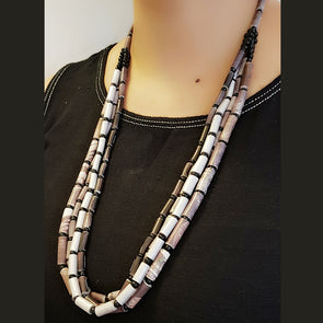 Paper Bead Necklace 11
