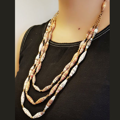 Paper Bead Necklace 13