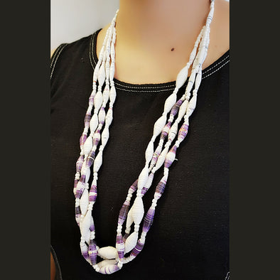Paper Bead Necklace 15