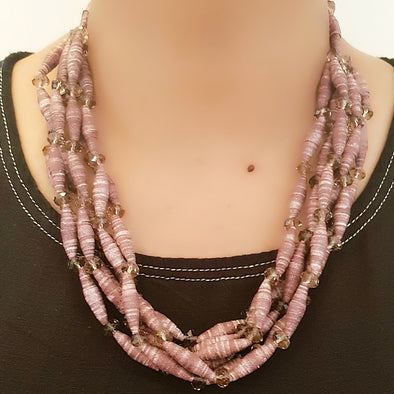 Paper Bead Necklace 17