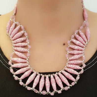Paper Bead Necklace 18
