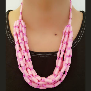Paper Bead Necklace 19