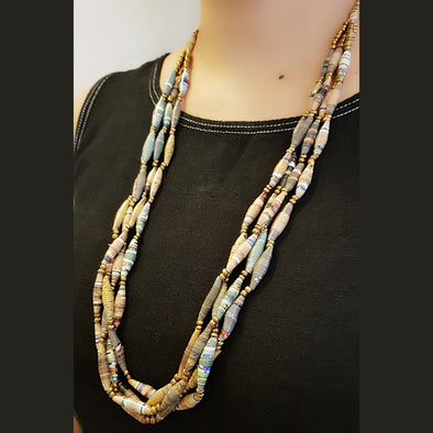 Paper Bead Necklace 21