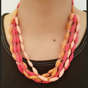Paper Bead Necklace 23