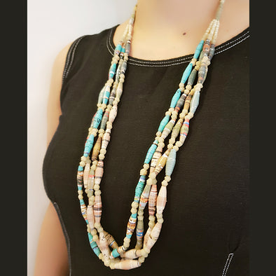 Paper Bead Necklace 24