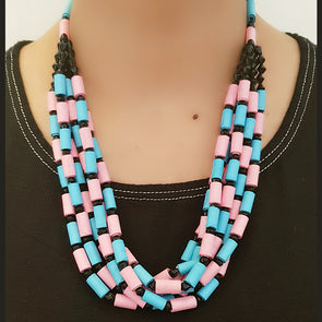 Paper Bead Necklace 26