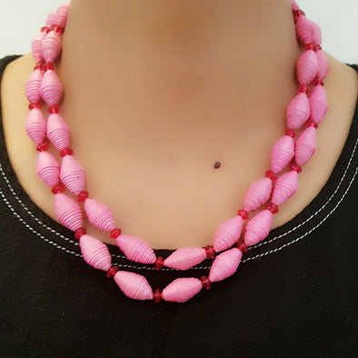 Paper Bead Necklace 27