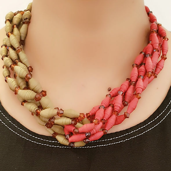 Paper Bead Necklace 28