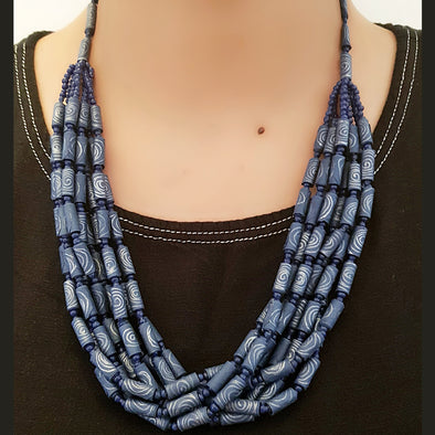 Paper Bead Necklace 29