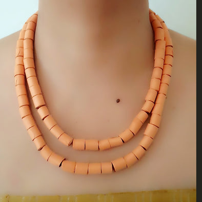 Paper Bead Necklace 36