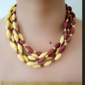 Paper Bead Necklace 37