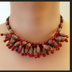 Paper Bead Necklace 38