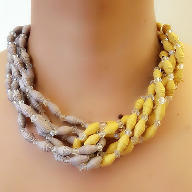 Paper Bead Necklace 39