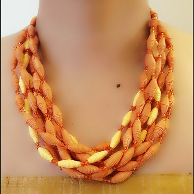 Paper Bead Necklace 42