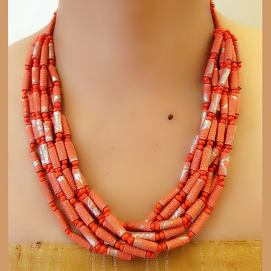 Paper Bead Necklace 44