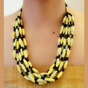 Paper Bead Necklace 45
