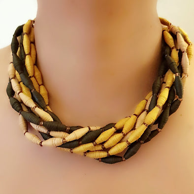 Paper Bead Necklace 46