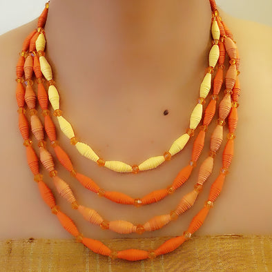 Paper Bead Necklace 48