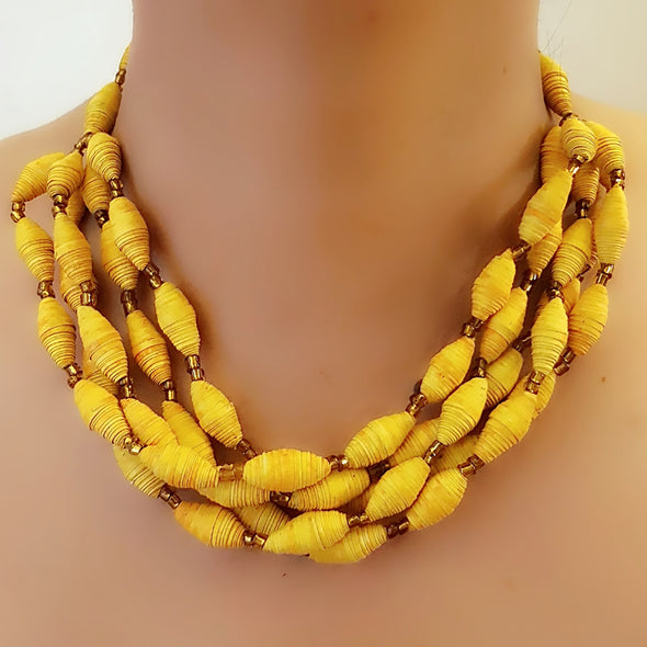 Paper Bead Necklace 49