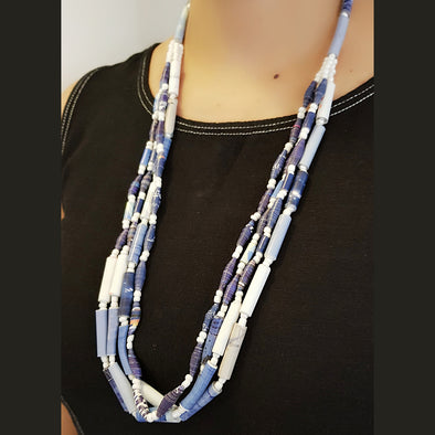 Paper Bead Necklace 4