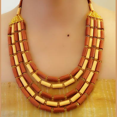 Paper Bead Necklace 50