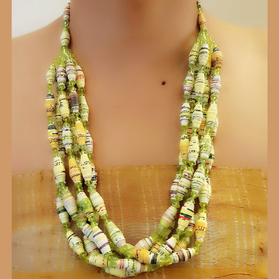 Paper Bead Necklace 53