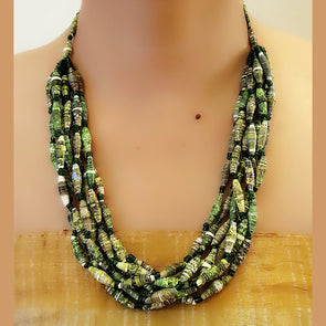 Paper Bead Necklace 54