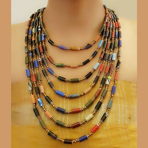 Paper Bead Necklace 59