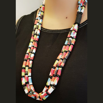 Paper Bead Necklace 5