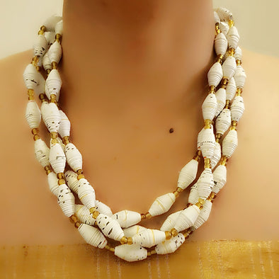 Paper Bead Necklace 60